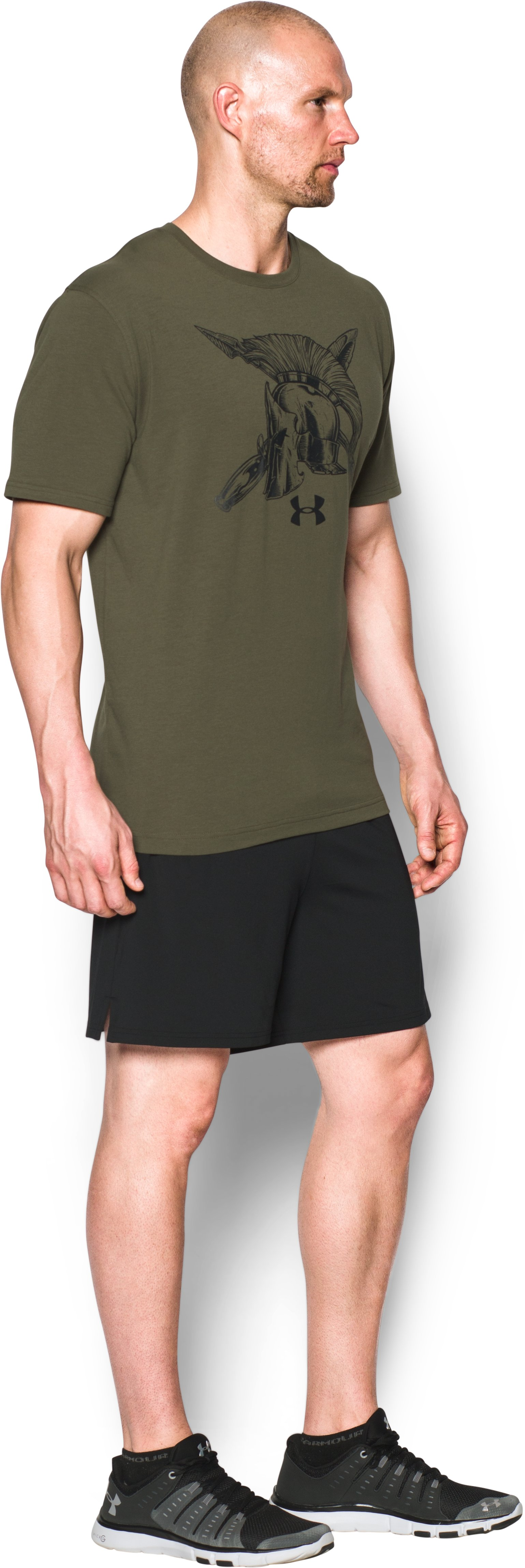 Men's UA Freedom Spartan T-Shirt, Marine OD Green, undefined