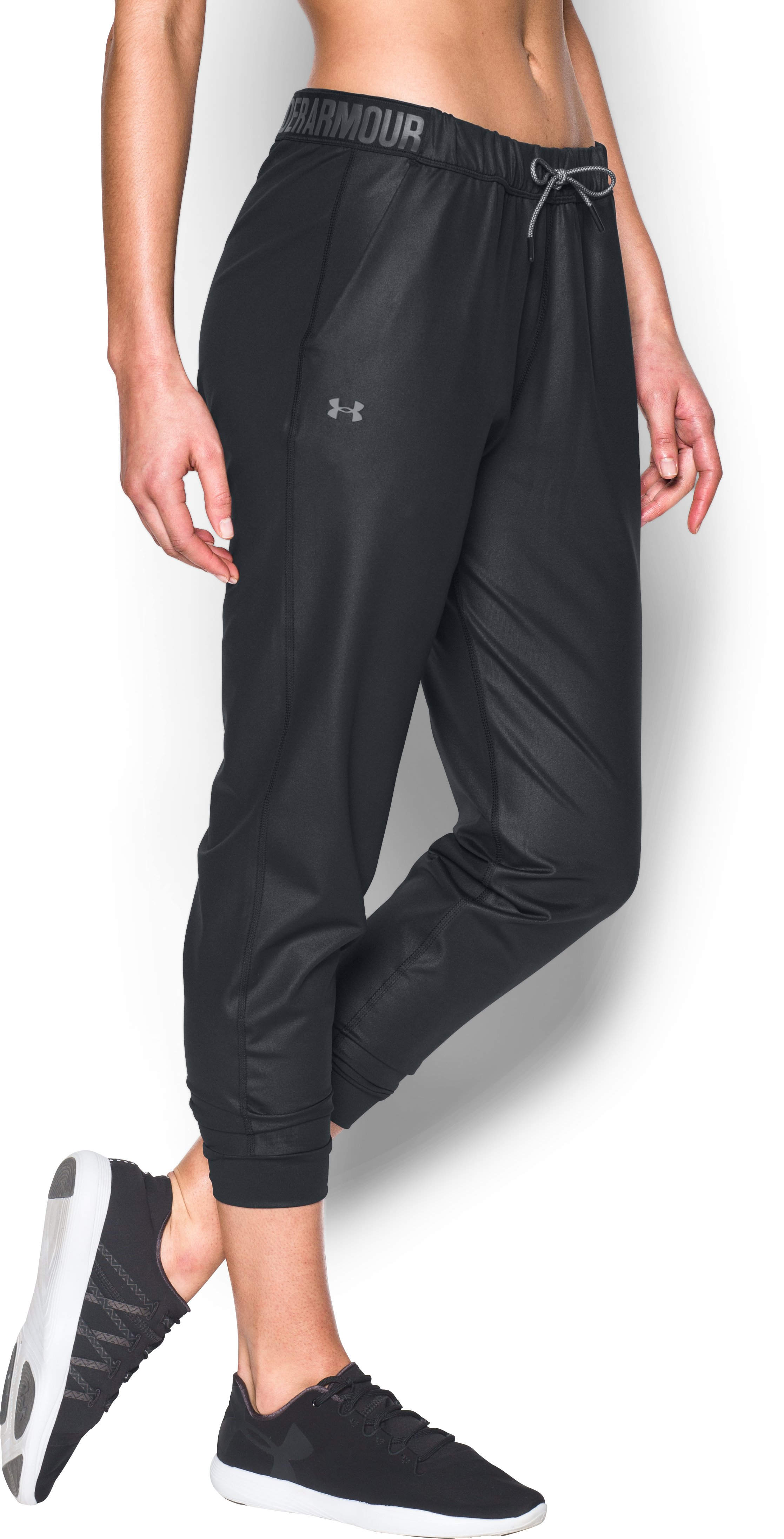 Women's UA City Hopper Shine Emboss Jogger, Black , zoomed image