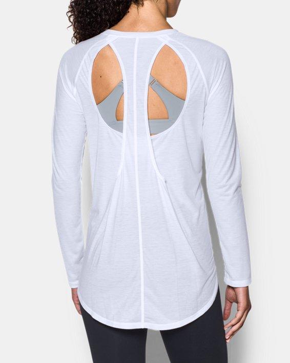 Women's UA Breathe Open Back Long Sleeve, White, pdpMainDesktop image number 2