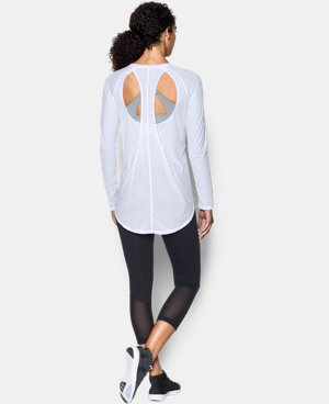 New Arrival Women's UA Breathe Open Back Long Sleeve  1 Color $54.99