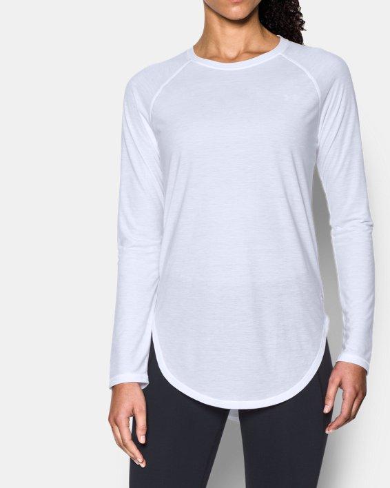 Women's UA Breathe Open Back Long Sleeve, White, pdpMainDesktop image number 0