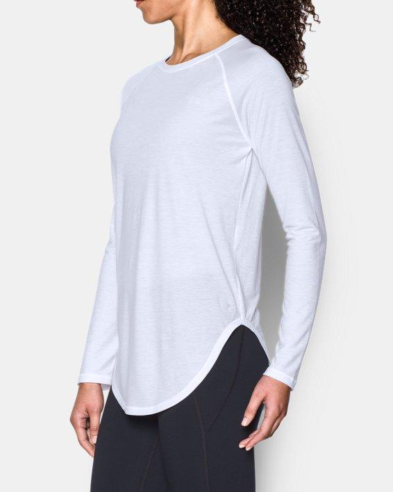 Women's UA Breathe Open Back Long Sleeve, White, pdpMainDesktop image number 1