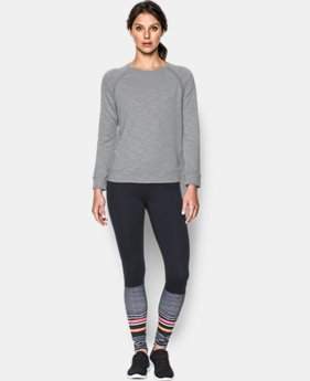 Women's UA Plush Terry Crew  1 Color $89.99