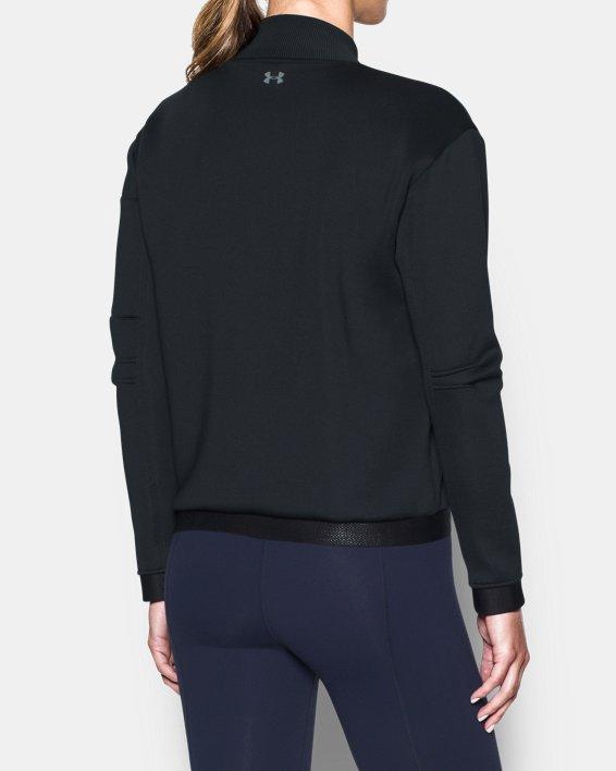 Women's UA Luster Bomber, Black, pdpMainDesktop image number 2