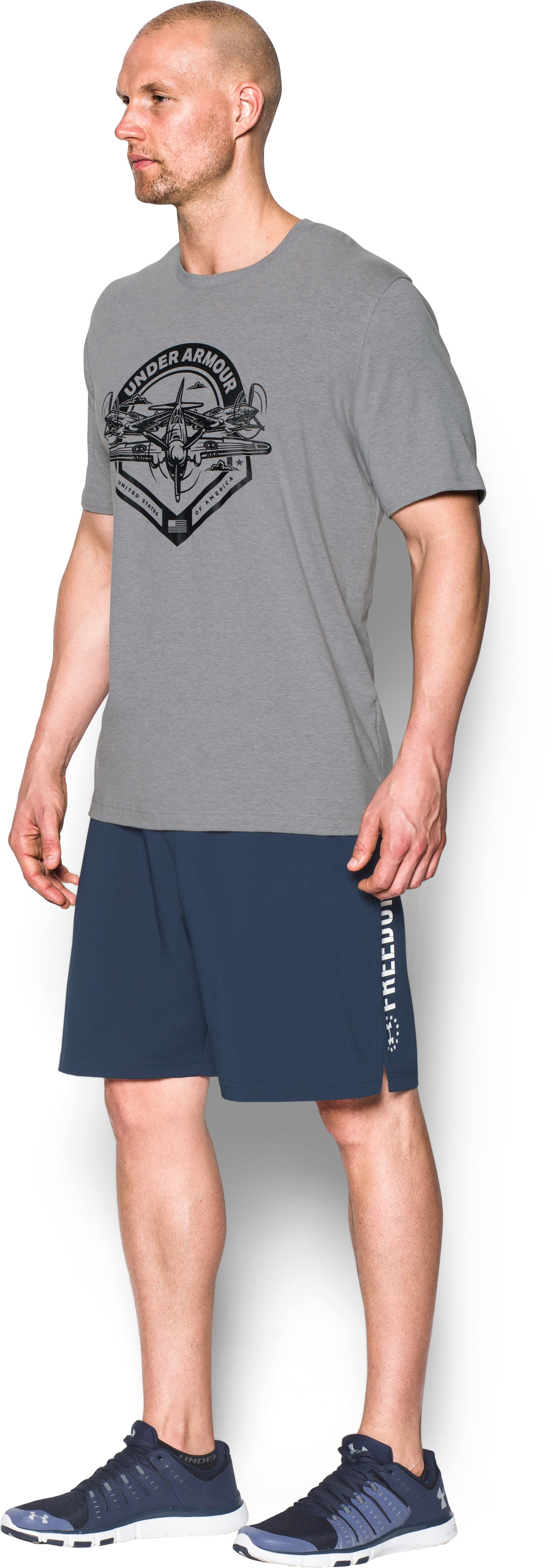 Men's UA Freedom By Air T-Shirt, True Gray Heather,