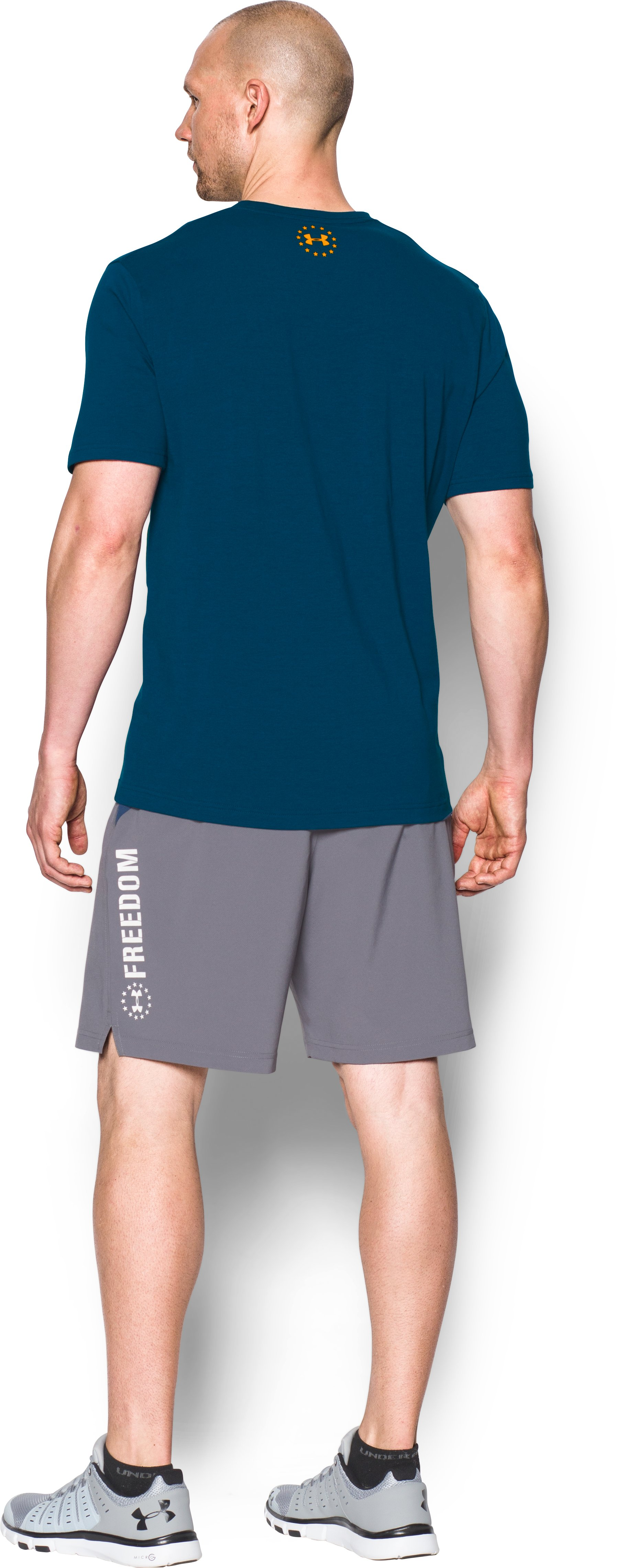 Men's UA Freedom By Sea T-Shirt, BLACKOUT NAVY, Back