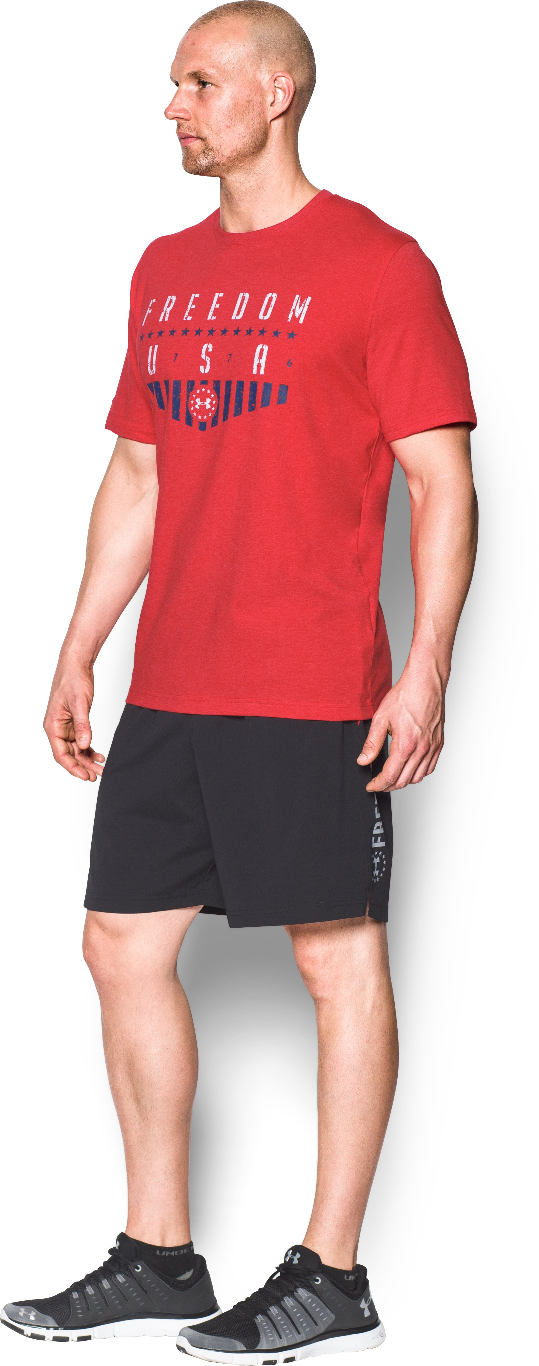 Men's UA Freedom Americana T-Shirt, Red, undefined