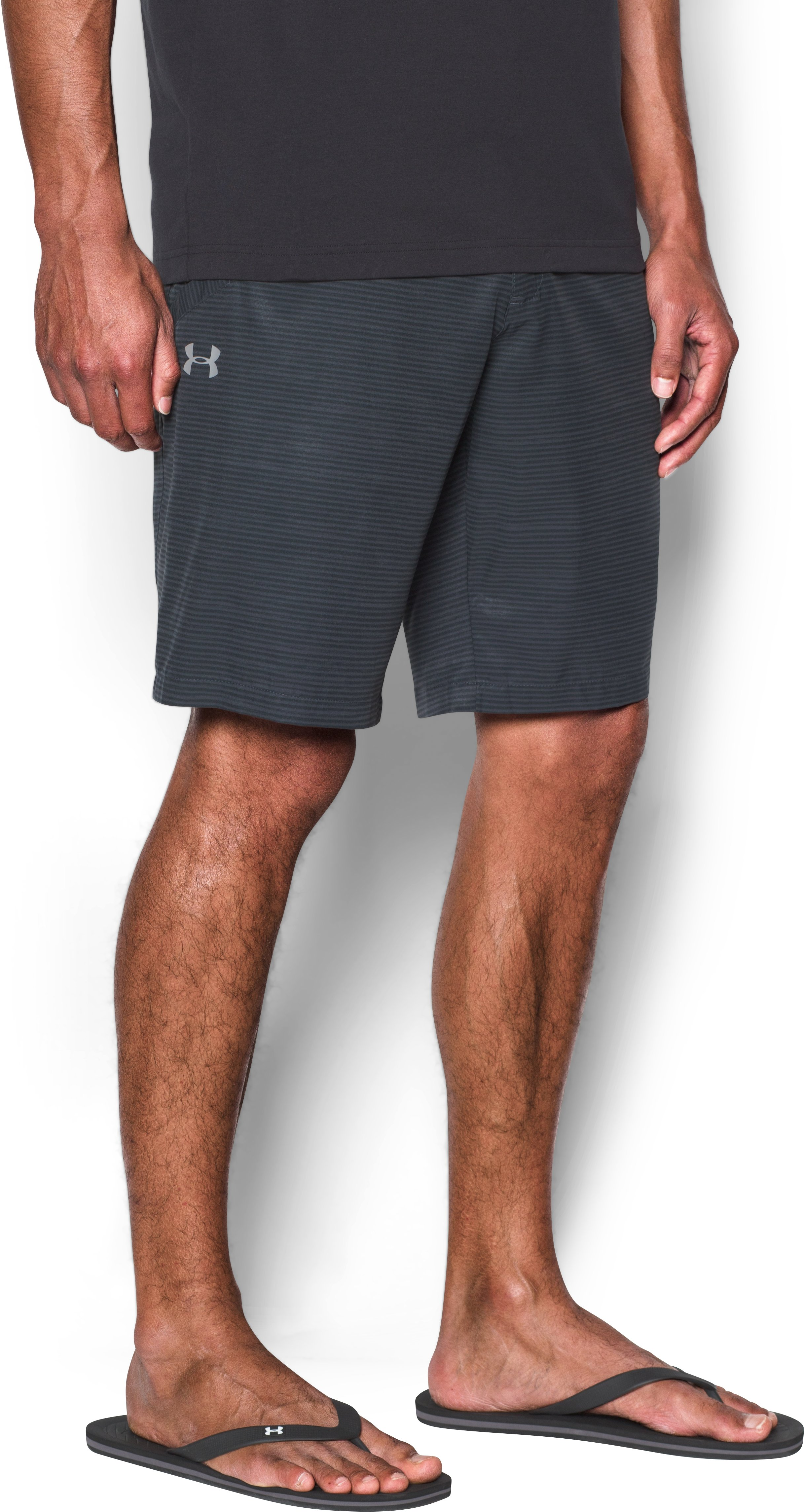 Men's UA Surf & Turf Stretch Amphibious Boardshorts, STEALTH GRAY