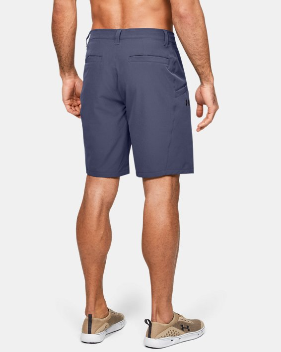 Men's UA Surf & Turf Stretch Amphibious Boardshorts, Blue, pdpMainDesktop image number 2