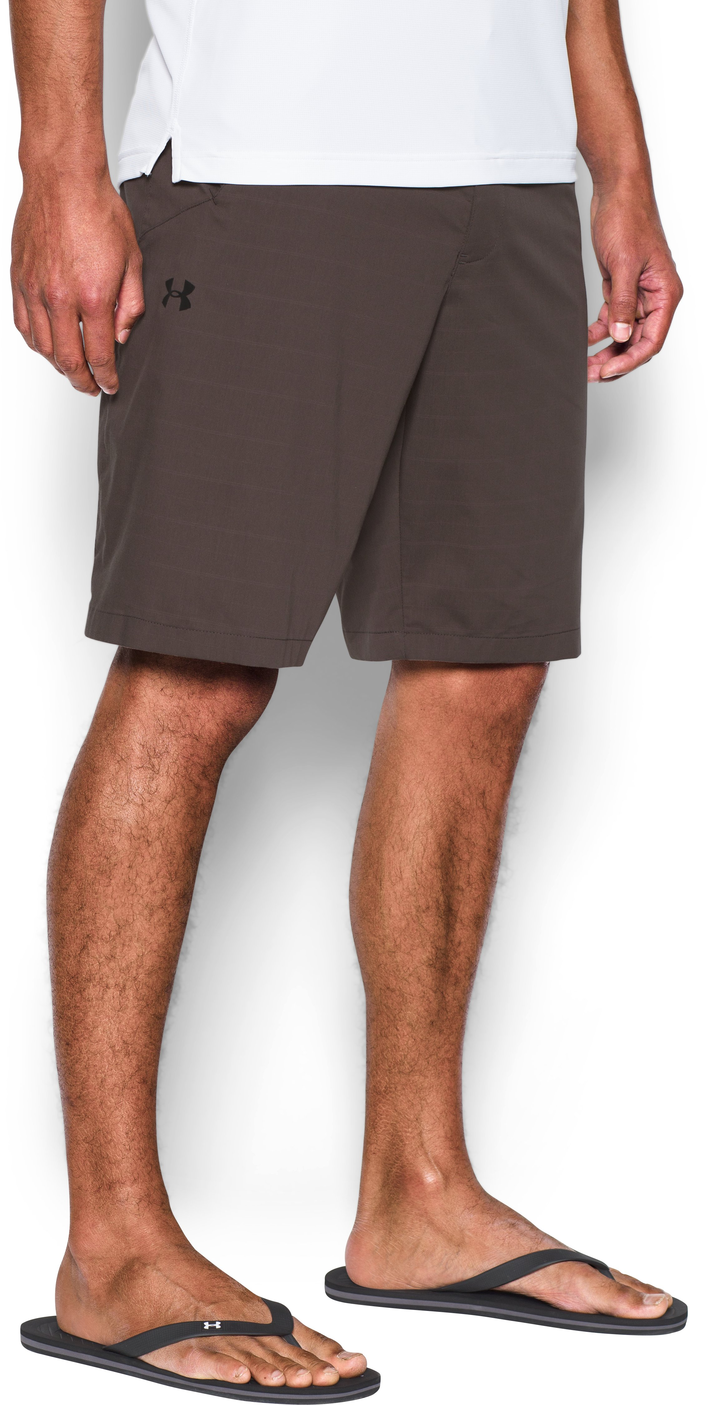 Men's UA Turf & Tide Amphibious Boardshorts, MAVERICK BROWN