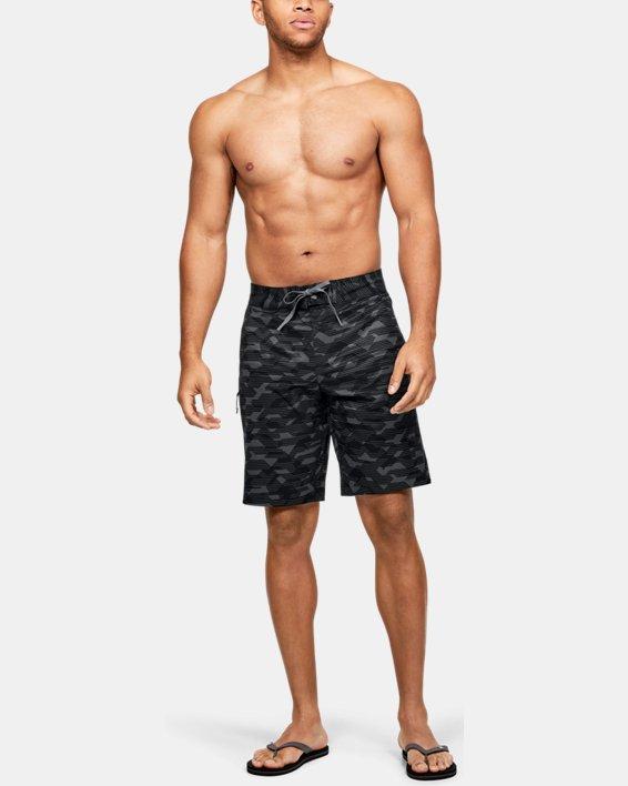 Men's UA Stretch Printed Boardshorts, Black, pdpMainDesktop image number 1