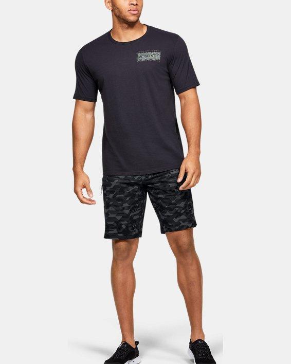 Men's UA Stretch Printed Boardshorts, Black, pdpMainDesktop image number 5