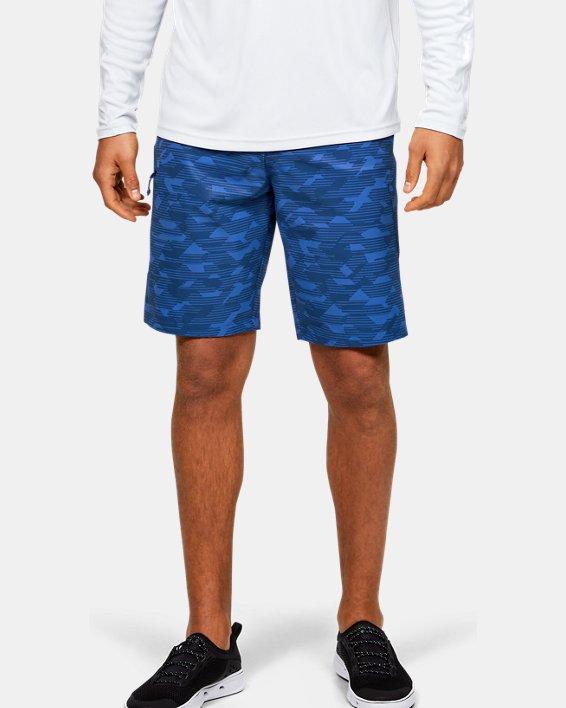 Men's UA Stretch Printed Boardshorts, Blue, pdpMainDesktop image number 0