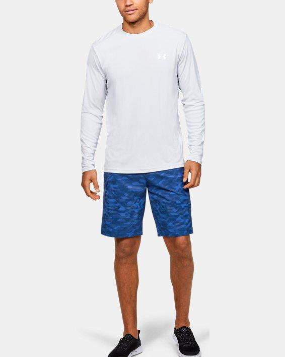 Men's UA Stretch Printed Boardshorts, Blue, pdpMainDesktop image number 1