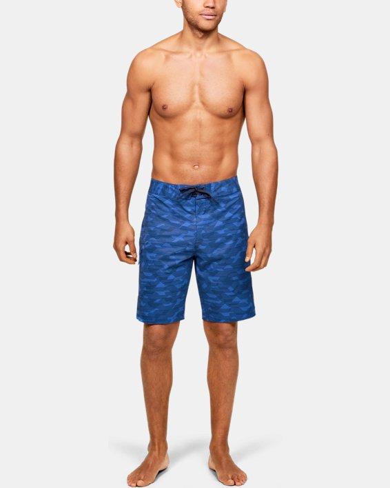 Men's UA Stretch Printed Boardshorts, Blue, pdpMainDesktop image number 5