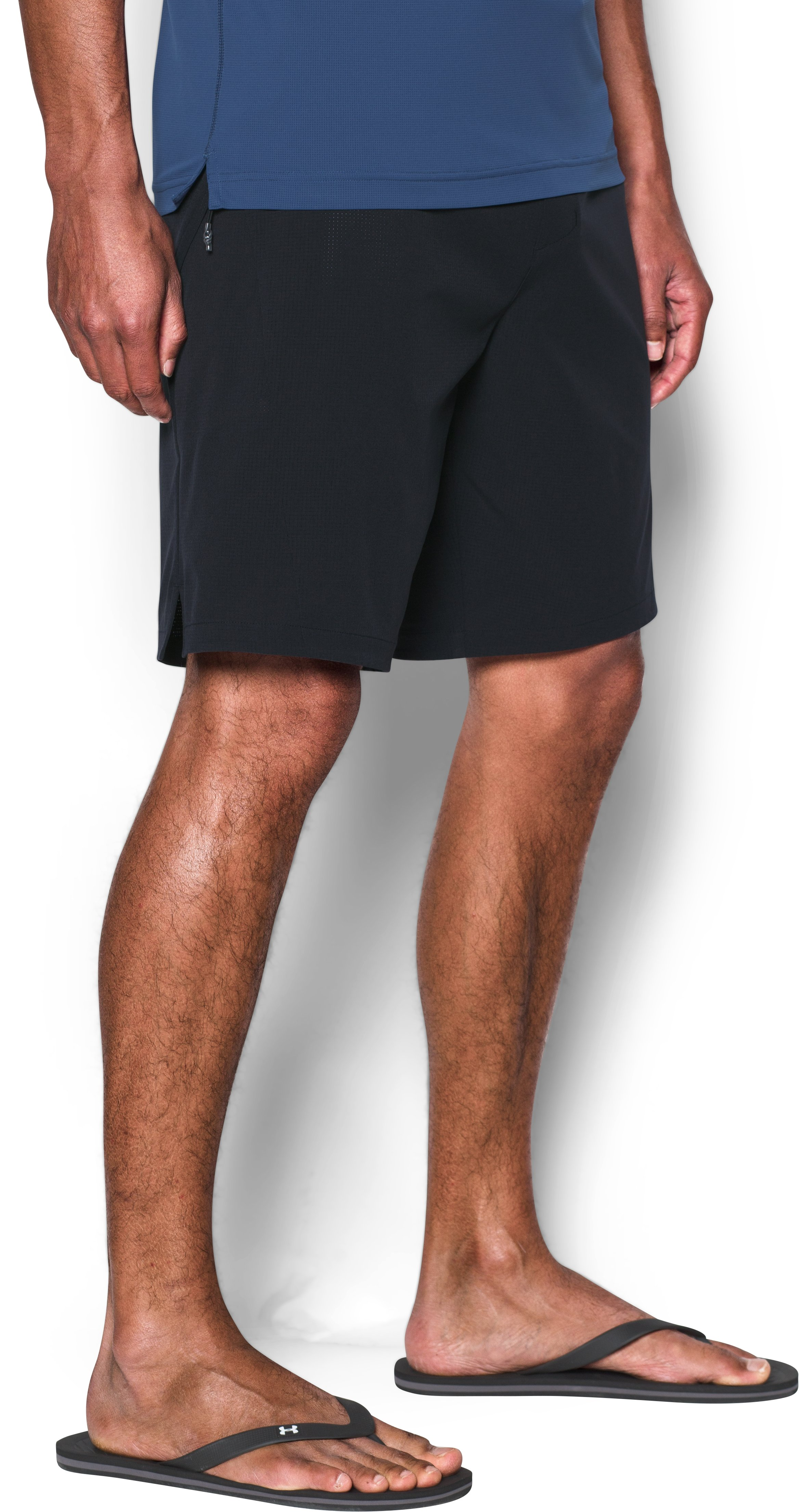 Men's UA ArmourVent™ Boardshorts, Black , zoomed image