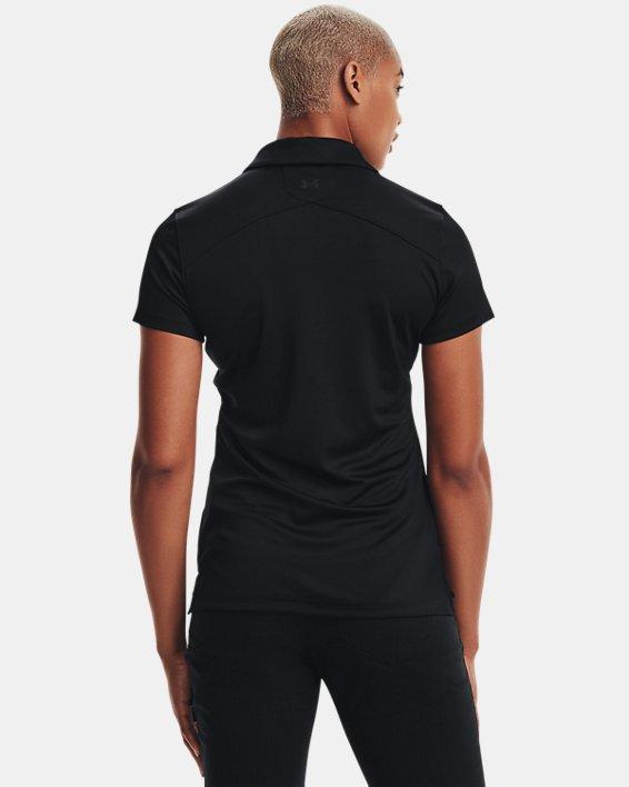 Women's UA Performance Range Tactical Polo, Black, pdpMainDesktop image number 4