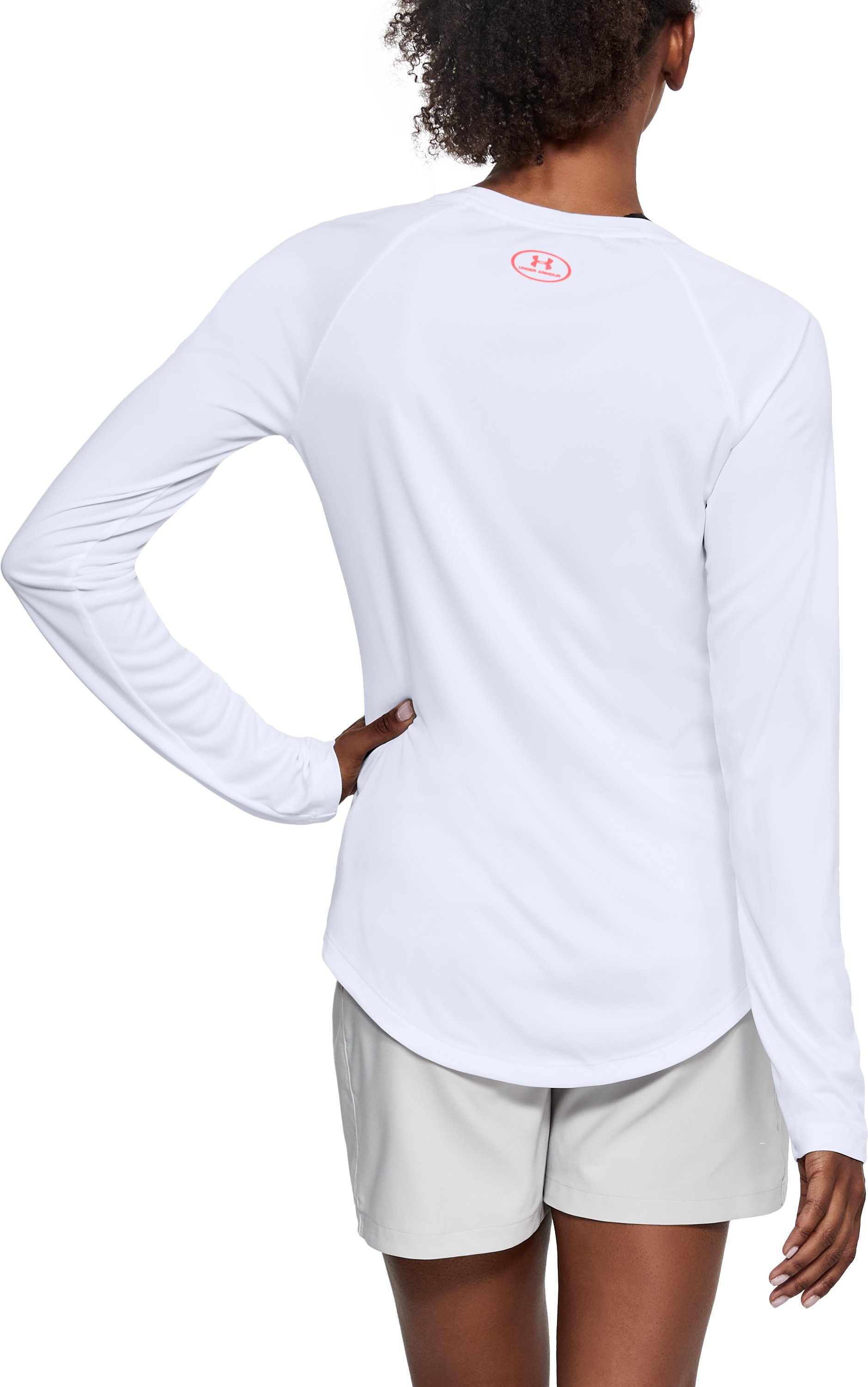 Women's UA UPF 30 Long Sleeve, White, undefined