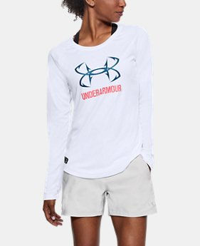 Women's UA UPF 30 Long Sleeve  1  Color Available $29.99