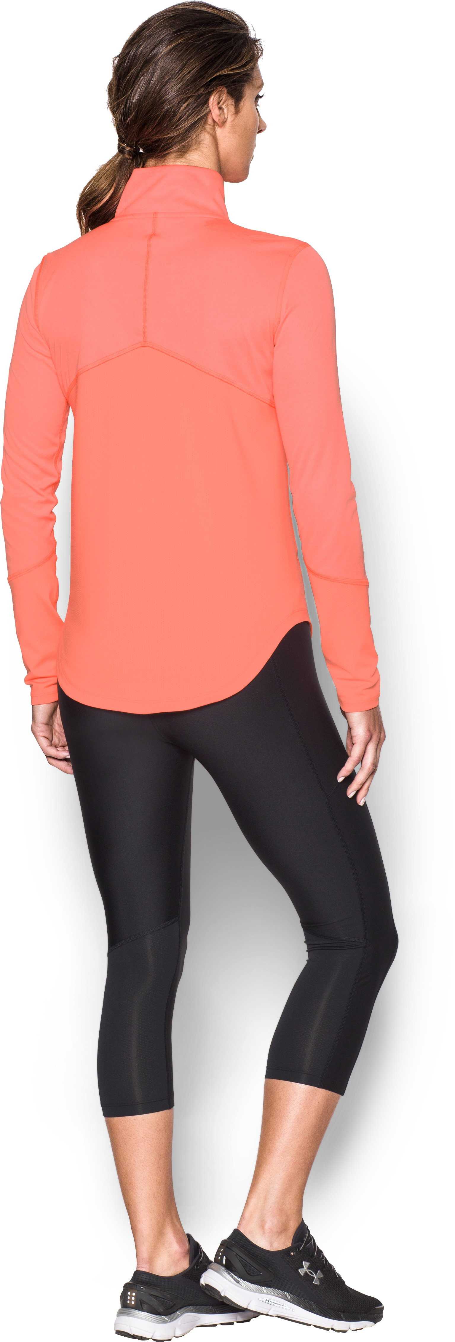 Women's UA CoolSwitch Thermocline ¼ Zip, LONDON ORANGE, Back
