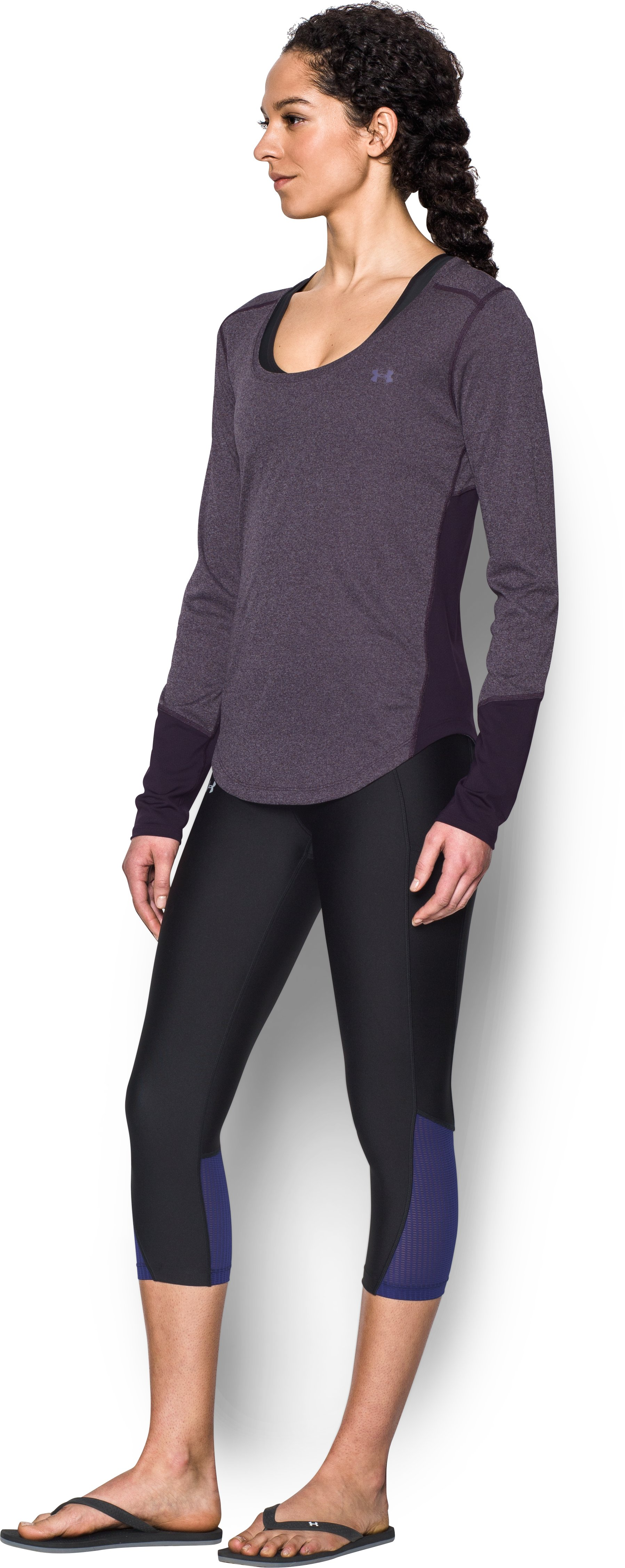 Women's UA CoolSwitch Thermocline Long Sleeve, IMPERIAL PURPLE, undefined