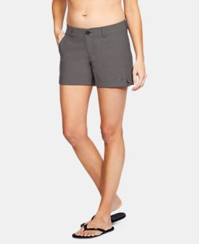 "Women's UA Fish Hunter Shorts - 4""  1  Color Available $49.99"