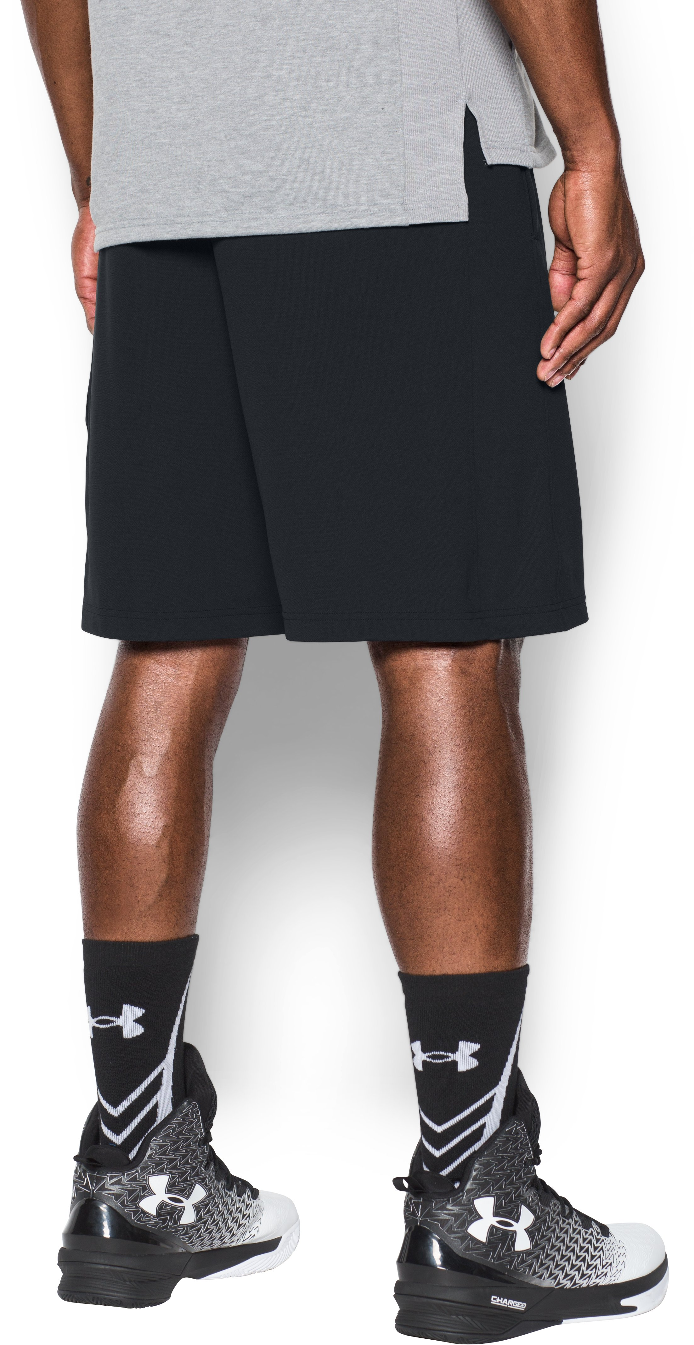 Men's UA Pursuit Cargo Shorts, Black , undefined