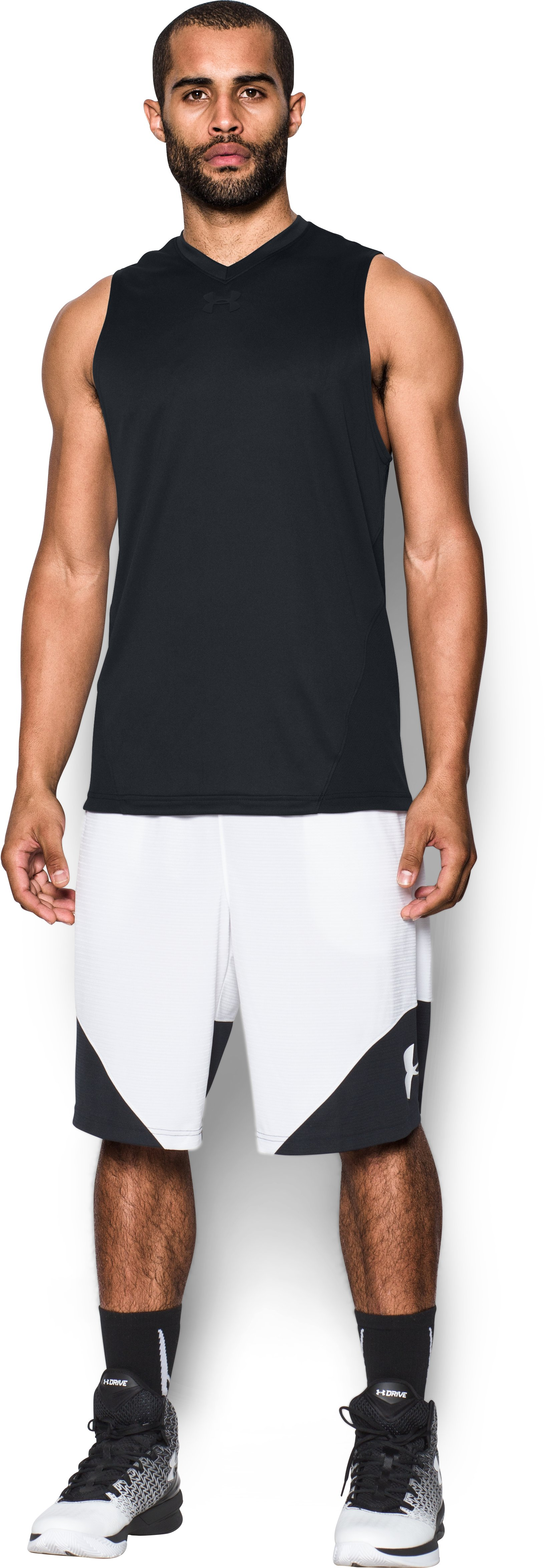 Men's UA Select Tank, Black , Front