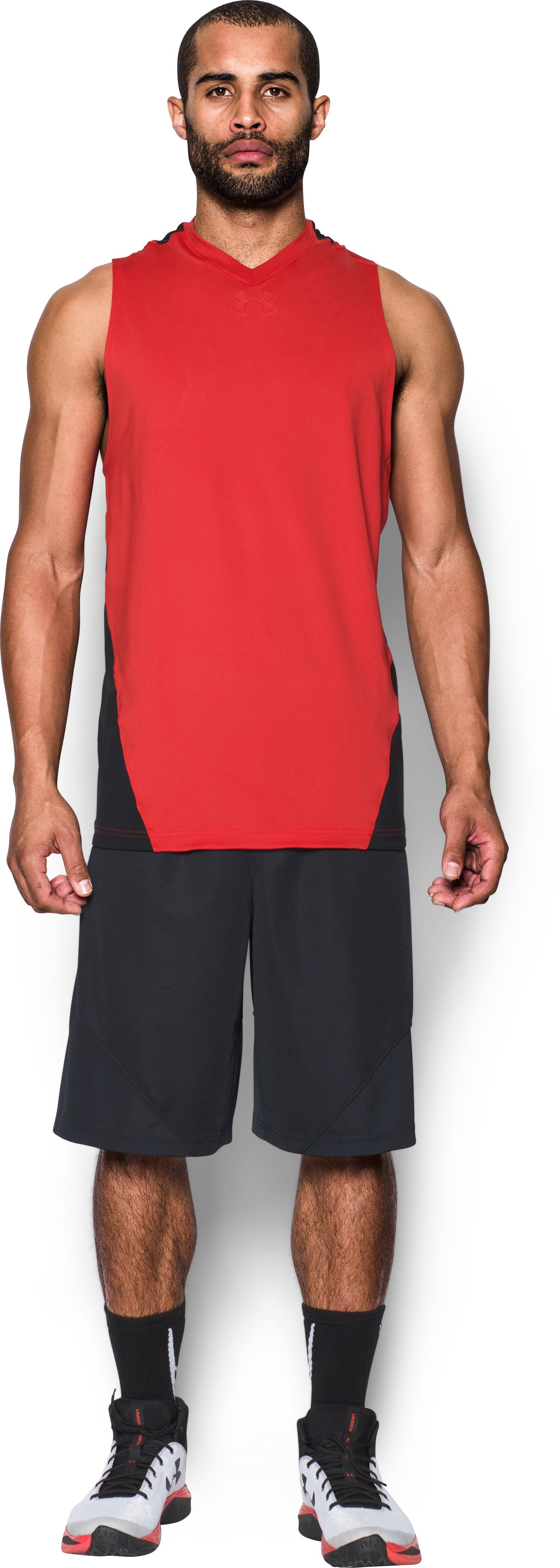 Men's UA Select Tank, Red, Front