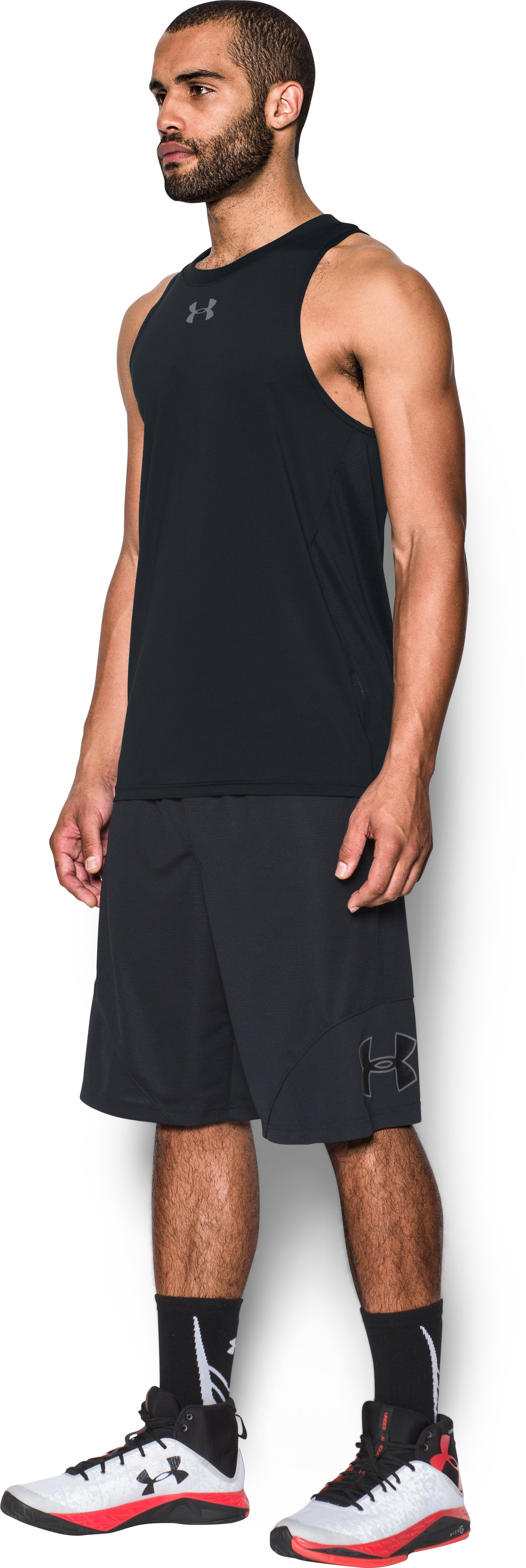 Men's UA Baseline Performance Tank, Black ,