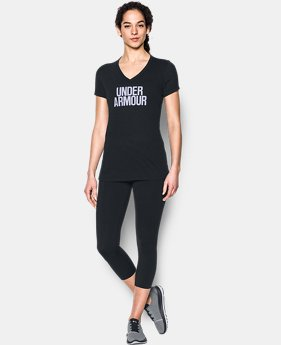 Women's UA Threadborne Train Wordmark V-Neck  1 Color $14.24 to $18.74