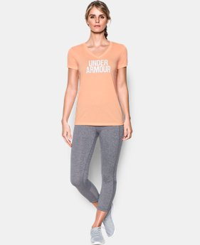 Women's UA Threadborne Train Wordmark V-Neck - Twist  1 Color $32.99