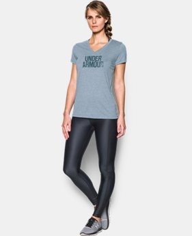 Women's UA Threadborne Train Wordmark V-Neck - Twist  1 Color $18.99 to $19.99