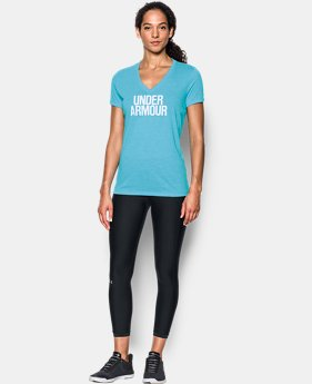 Women's UA Threadborne Train Wordmark V-Neck - Twist  7 Colors $17.99