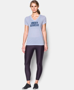Women's UA Threadborne Train Wordmark V-Neck - Twist  1 Color $39.99