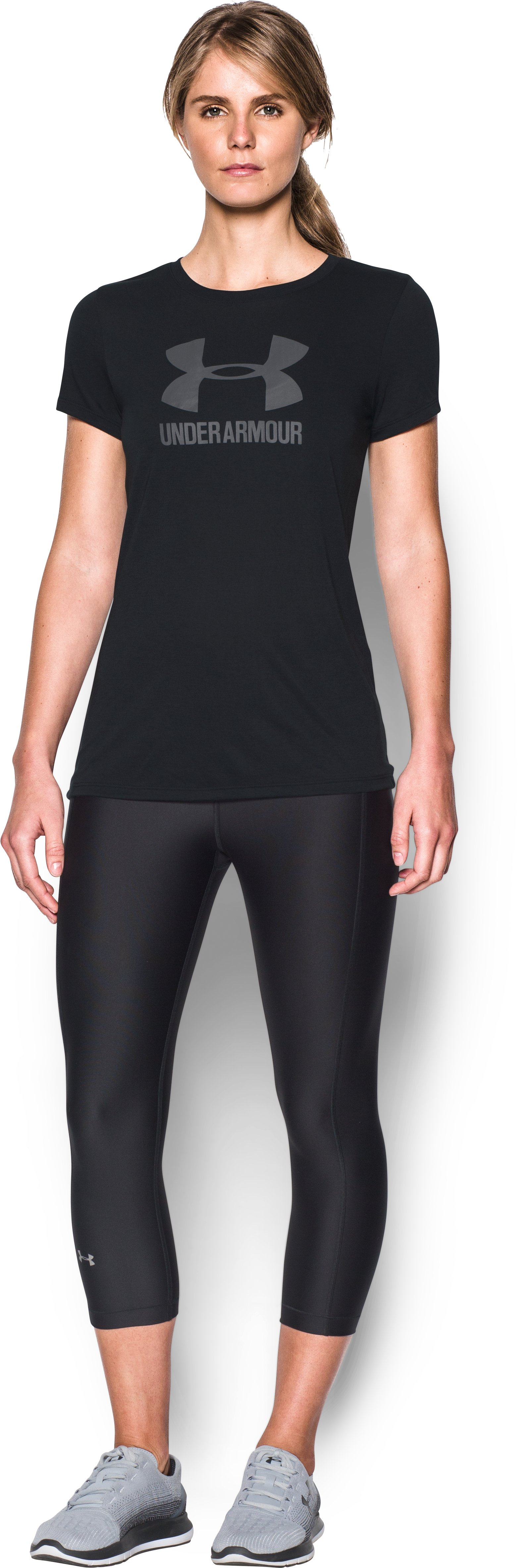 Women's UA Threadborne Sportstyle Crew, Black