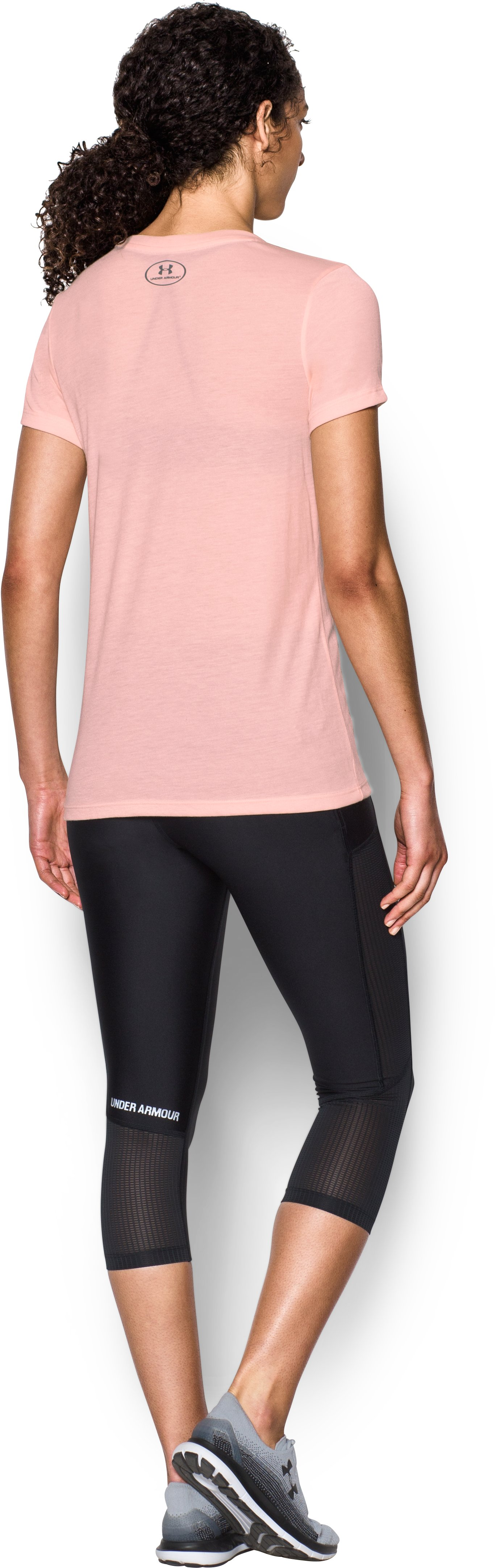 Women's UA Threadborne Sportstyle Crew, BALLET PINK, Back