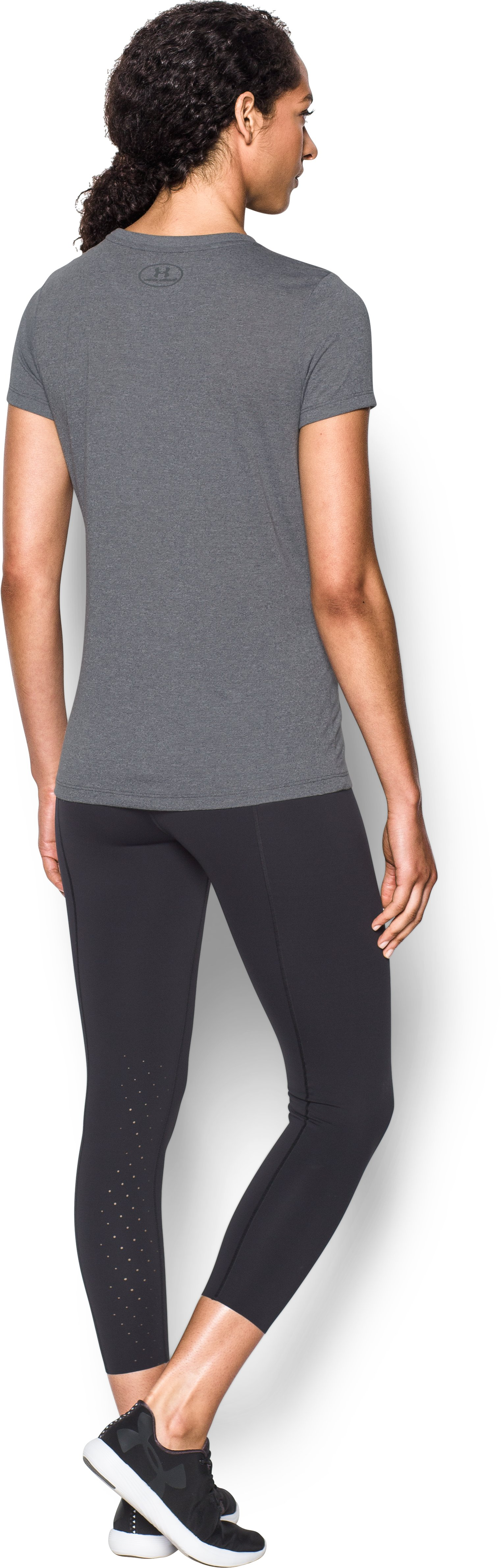Women's UA Threadborne Sportstyle Crew - Twist, RHINO GRAY, Back