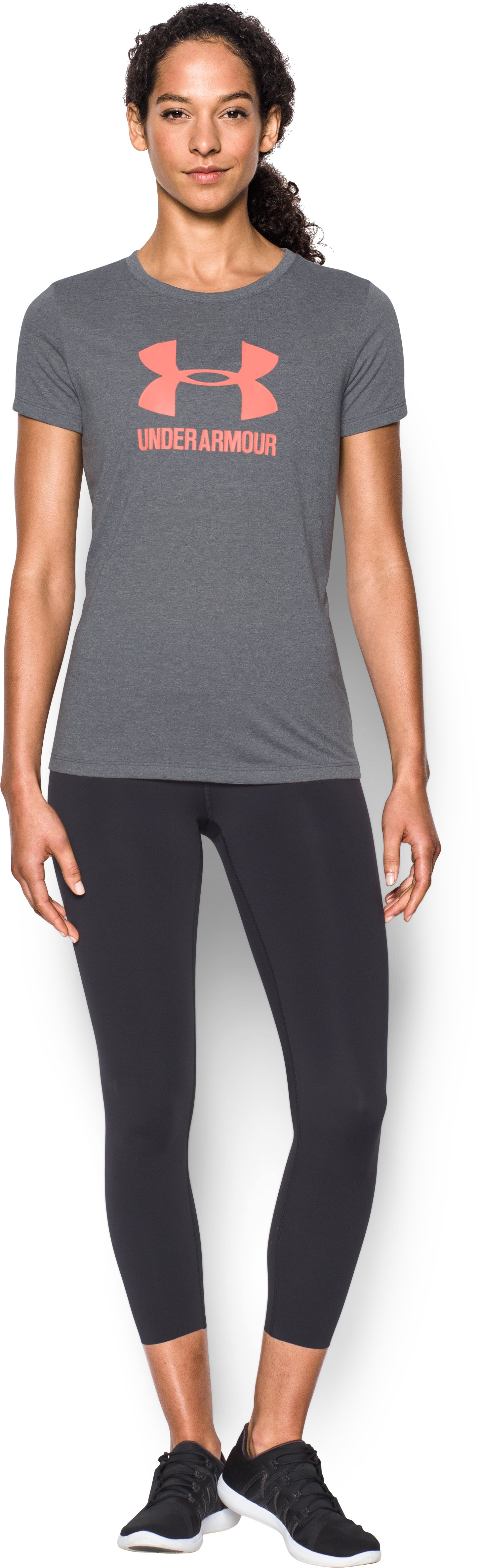 Women's UA Threadborne Sportstyle Crew - Twist, RHINO GRAY