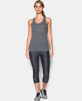 Women's UA Threadborne Train Wordmark Tank -Twist  1 Color $18.99 to $19.99