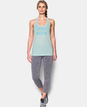 Women's UA Threadborne Train Wordmark Tank -Twist  3 Colors $14.24 to $18.74