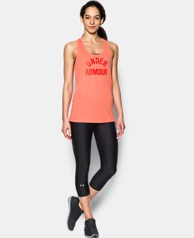 Women's UA Threadborne Train Wordmark Tank -Twist  1  Color $32.99