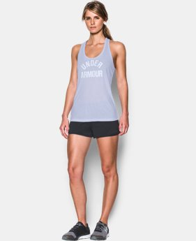 Women's UA Threadborne Train Wordmark Tank -Twist  1 Color $23.99