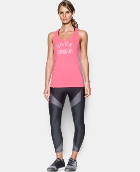 Women's UA Threadborne Train Wordmark Tank -Twist  4 Colors $14.24 to $18.74