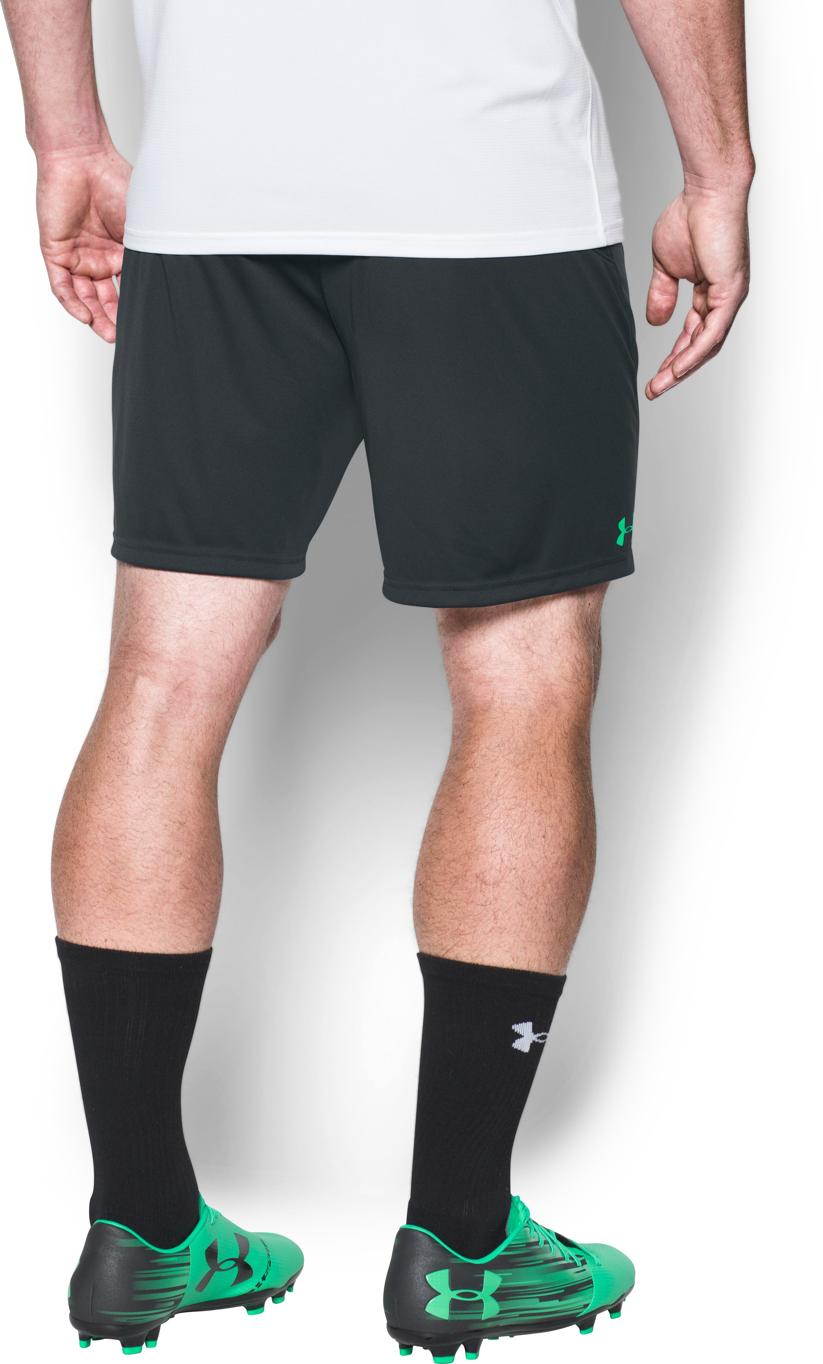 Men's UA Challenger Knit Shorts, ANTHRACITE,