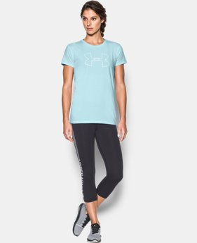 Best Seller Women's UA Big Logo Short Sleeve  4 Colors $24.99