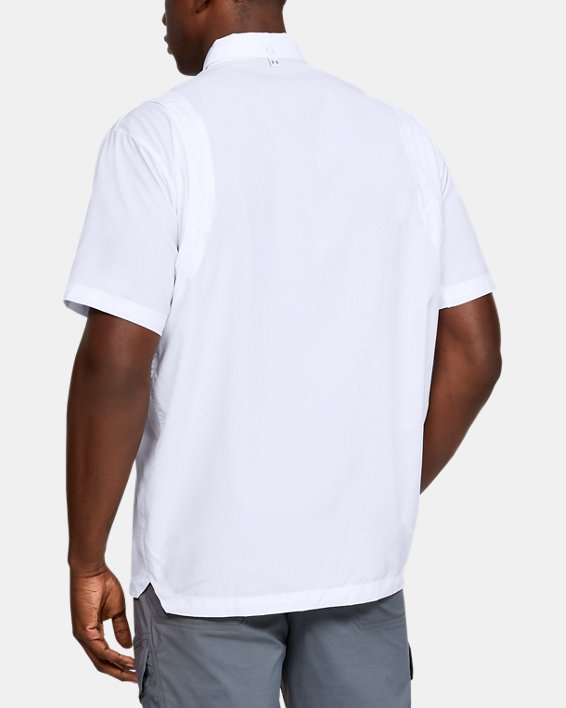 Men's UA Tide Chaser Short Sleeve, White, pdpMainDesktop image number 4