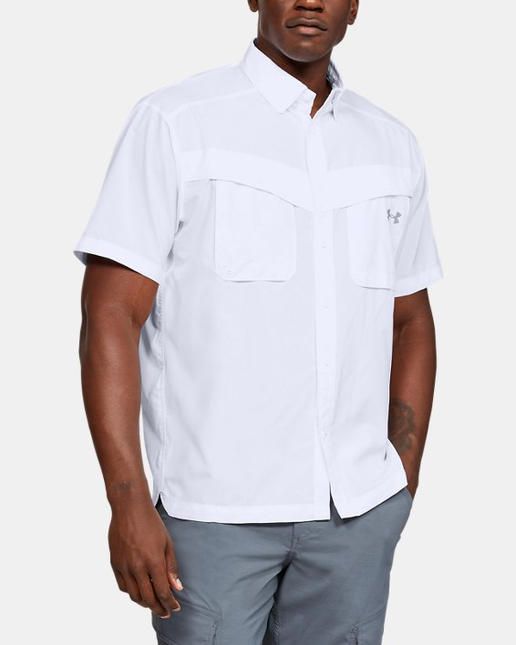 Men's UA Tide Chaser Short Sleeve, White, pdpMainDesktop image number 0