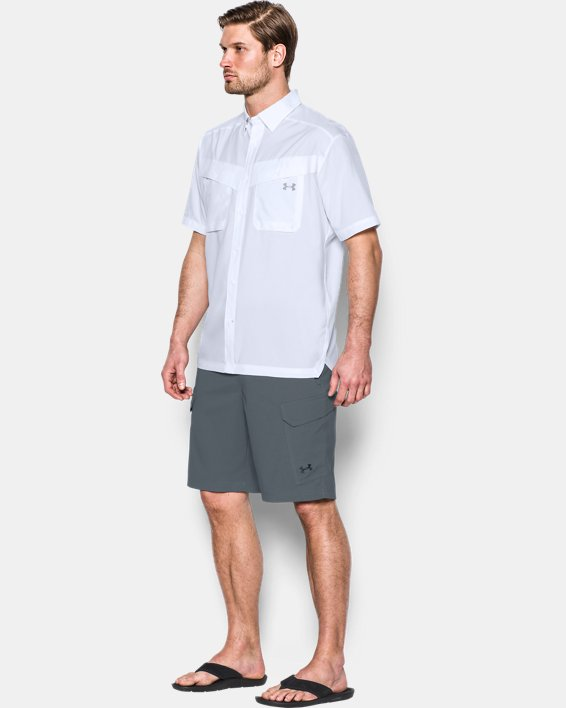 Men's UA Tide Chaser Short Sleeve, White, pdpMainDesktop image number 2