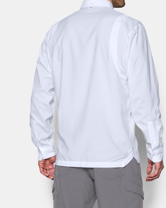 Men's UA Tide Chaser Long Sleeve, White, pdpMainDesktop image number 2